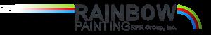 Rainbow Painting RPR Group Inc. Black Logo